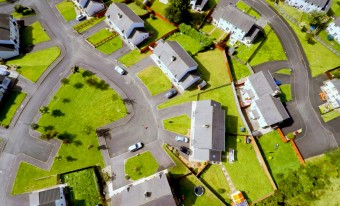 Aerial view of housing estate in Ireland