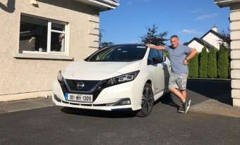 Martin Daly with his Electric vehicle